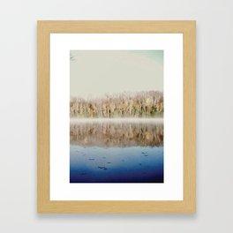 Foggy Reflection Framed Art Print