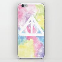deathly hallows iPhone & iPod Skins featuring Deathly Hallows  by Mackenzie Hahn