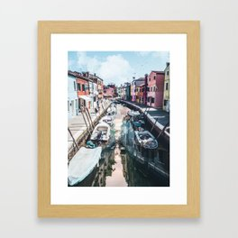 Venice inception by GEN Z Framed Art Print