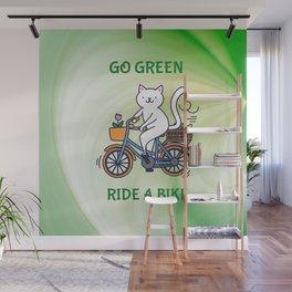 Go Green Ride a Bike Wall Mural