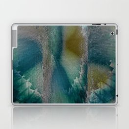 Industrial Wings in Teal Laptop & iPad Skin