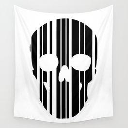 Barcode Skull Wall Tapestry