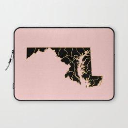 Maryland map Laptop Sleeve