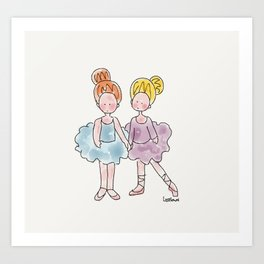 The Ballerinas Art Print