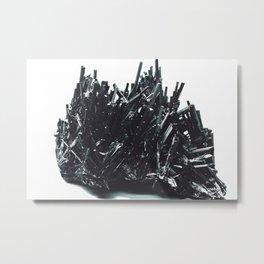 Stibnite; Or, The Edward Scissorhands Mineral Metal Print