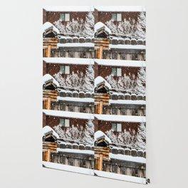 Snow House Wallpaper