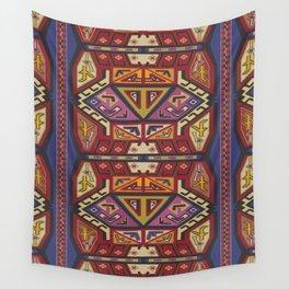 Golden Traveler (Red Aziki) Wall Tapestry