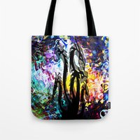 hydra Tote Bags featuring Hydra Distort by blCub