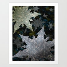 Snowflakes and Space Art Print