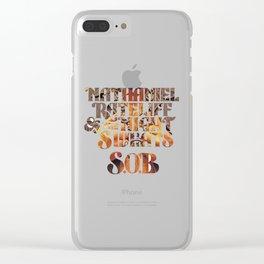 nathaniel rateliff & the night sweats sob tour 2019 2020 hajarlah Clear iPhone Case