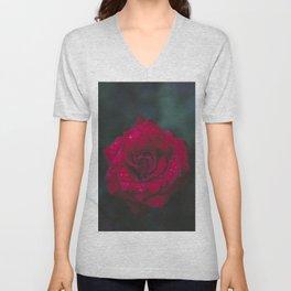 Red Rose x Dewdrops Unisex V-Neck