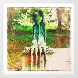 Two Figures Art Print