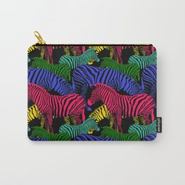 Herd of Fantasy Colored Zebra Carry-All Pouch