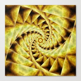 Smoky spiral stairs to floral centre Canvas Print