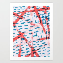 Rough Paint Stripes and Dashes Art Print