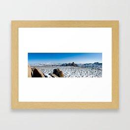 Snow in the Desert - Joshua Tree National Park Framed Art Print