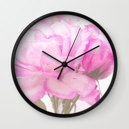 Light Pink Blend Rose #1 #floral #decor #art #society6 Wall Clock