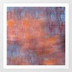 Orange Color Fog Art Print