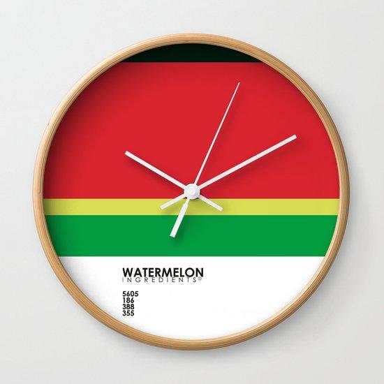 Pantone Fruit - Watermelon Wall Clock