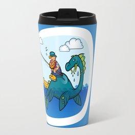 Dino and fisherman Travel Mug