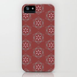 Kaitlyn purple floral deep red pattern iPhone Case