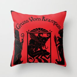 Gruss Vom Krampus Throw Pillow