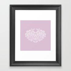roses heart Framed Art Print