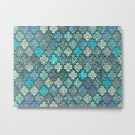 Moroccan Inspired Precious Tile Pattern Metal Print