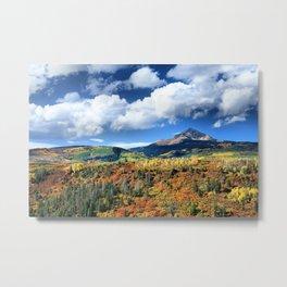 Autumn Mountain Skies Metal Print