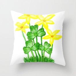Shamrock Garden Throw Pillow