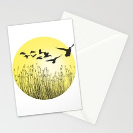 Mallards and reeds in the ring Stationery Cards