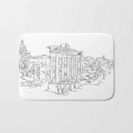 Ancient Rome roman forum Bath Mat