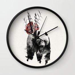 Rising Sun Panda Wall Clock