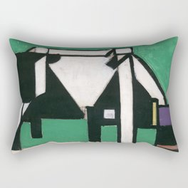Theo van Doesburg - Composition the Cow - Abstract De Stijl Painting Rectangular Pillow
