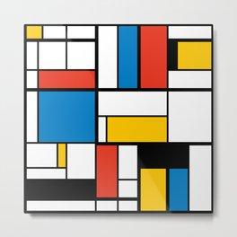 Mondrian De Stijl Modern Art Metal Print