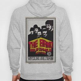 1969 The Band at Winterland Ballroom Concert Poster Hoody