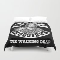 daryl Duvet Covers featuring Daryl & his Cross-Bow by SwanniePhotoArt