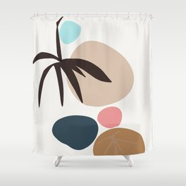 The Present - zen garden colorful stones Shower Curtain
