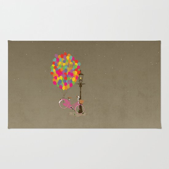 Love to Ride my Bike with Balloons even if it's not practical. Rug