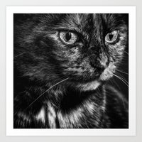 Glamour Kitty Art Print