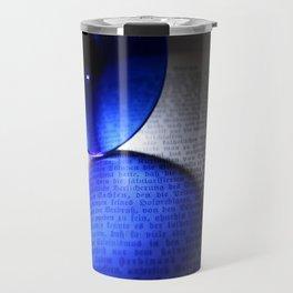 Blue mirror Travel Mug