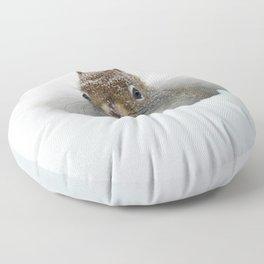 Pop-up Squirrel in the Snow Floor Pillow