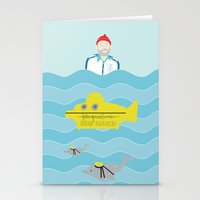 the life aquatic Stationery Cards featuring Life Aquatic by Arthurs Plaid Pants
