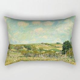 Alfred Sisley - Meadow, 1875 Rectangular Pillow