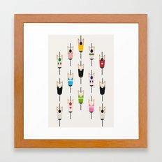 Bicycle squad Framed Art Print
