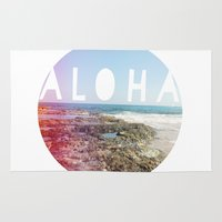 aloha Area & Throw Rugs featuring Aloha by Sunkissed Laughter