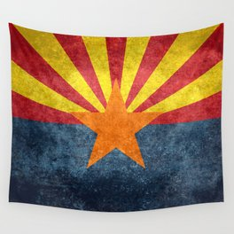 State flag of Arizona in Vintage Grunge Wall Tapestry