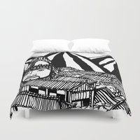 korea Duvet Covers featuring Korea by Matt Ferguson