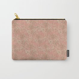Fireworks Bloom on Coral Carry-All Pouch