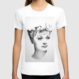Lucille Ball Minimal Portrait T-shirt